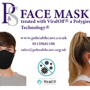 P&S Face Mask with ViralOff Technology - 5 Pack- Please choose Size and Colour