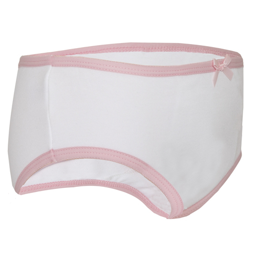 Girls training pants, trainer pants from the childrens incontinence product range.